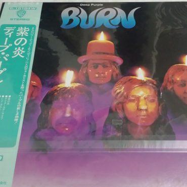 Deep Purple, Burn, Japan Press Vinyl LP, Warner Bros. Records – P-10104W, 1976, with OBI