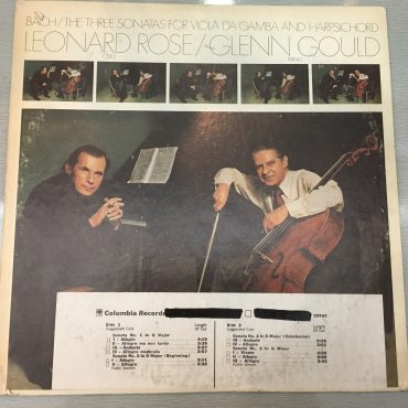Bach / Leonard Rose, Glenn Gould ‎– Bach: The Three Sonatas For Viola Da Gamba And Harpsichord, Vinyl LP, Promo Copy, Columbia Masterworks ‎– M 32934, 1974, USA