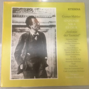 """Gustav Mahler – Sinfonie Nr.8 Es-Dur """"Sinfonie Der Tausend"""", 2 x Vinyl LP, ETERNA – 8 25 841/842, Germany"""