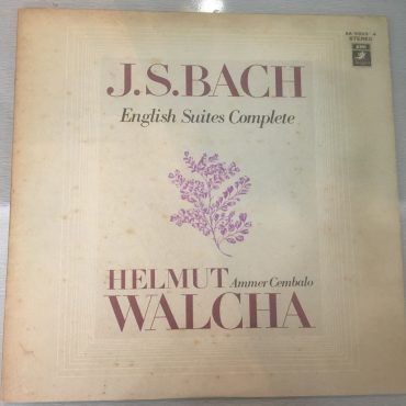 Helmut Walcha, Bach English Suites Complete, Japan Press 2x Vinyl LP, Angel/EMI – AA8823-4, no OBI