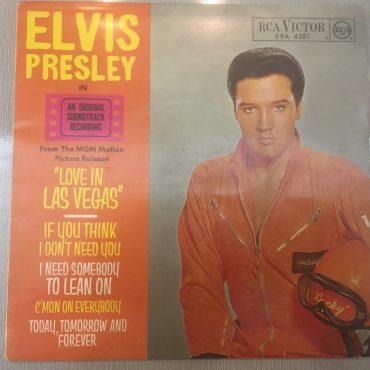 Elvis Presley with The Jordanaires – Love In Las Vegas, 7″ EP Vinyl, RCA – EPA-4381, 1964, Germany