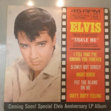 Elvis ‎– Tickle Me, 7″ Vinyl EP, RCA Victor ‎– EPA-4383, 1965, USA