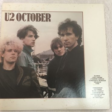 U2 ‎– October, Japan Press Vinyl LP, Island Records ‎– 25S-44, 1982, no OBI
