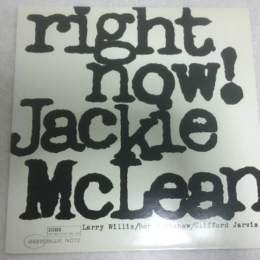 Jackie McLean ‎– Right Now!, Japan Press Vinyl LP, Blue Note ‎– BN 4215, 1991, no OBI
