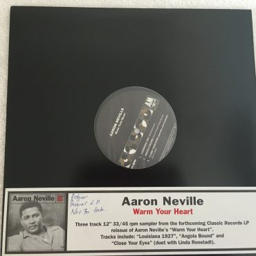 Aaron Neville ‎– Warm Your Heart Sampler, 12″ Single Vinyl , Classic Records ‎– ARTH 53545Q, 2003, USA