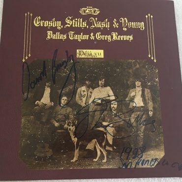 Crosby, Stills, Nash & Young, Deja Vu, Vinyl LP, Autograhed By David Crosby and Stephen Stills,  Atlantic ‎– SD 19118, MO Version, Gatefold, Texture Leather Cover, 1977, USA