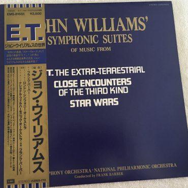 John Williams – Symphonic Suites, Japan Press Vinyl LP, EMI – EMS-81551, with OBI