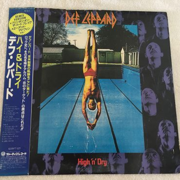Def Leppard ‎– High 'N' Dry, Japan Press Vinyl LP, Vertigo ‎– 25PP-132, 1984, with OBI