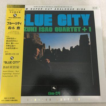 Isao Suzuki Quartet + 1, Blue City, Japan Vinyl LP, TBM Super-Cut Analogue Disk, Three Blind Mice – TBM(P)-2524, 1995, with OBI